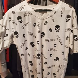 White XL rare original Alexander McQueen T-shirt